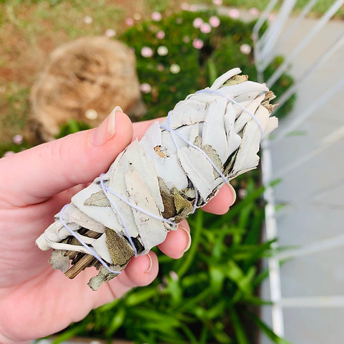 Small Lavender and White Sage Smudge Stick