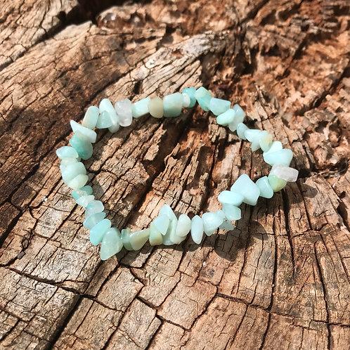Gemstone Chip Amazonite Bracelet