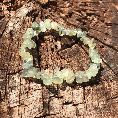 Gemstone Chip Prehnite Bracelet
