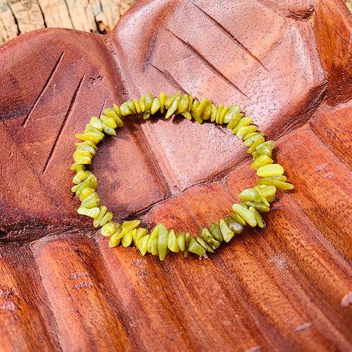 Gemstone Chip Green Jasper Bracelet