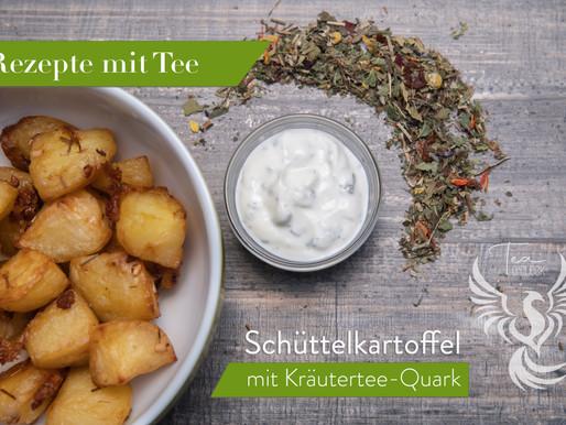 Rezepte mit Tee: Schüttelkartoffeln mit Kräutertee-Quark