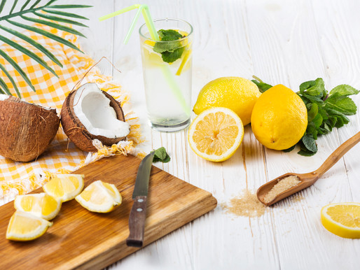 Coole Erfrischung - Kokos-Zitrusfrüchtetee-Caipi