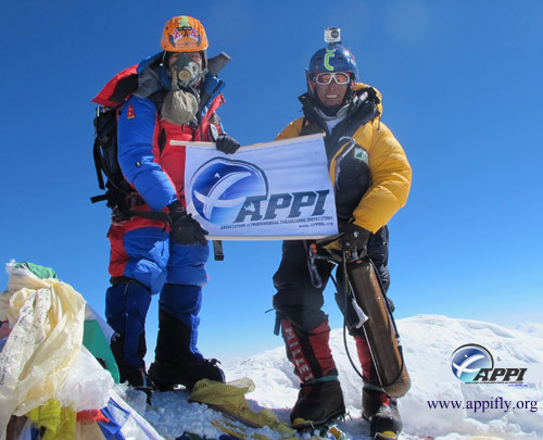 Babu and Lapka on the summit of Everest