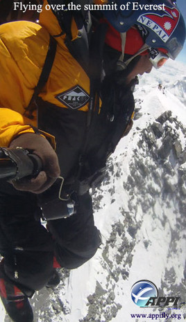 Babu and Lapka Flying over the summit of