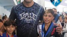 Rodolfo Vieira,  atletas do MMA e do TUF BRASIL agitam os eventos da CBJJP