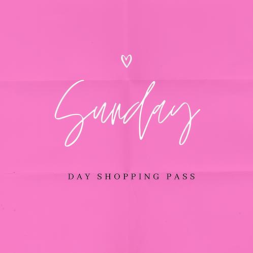 Sunday Day Shopping Pass