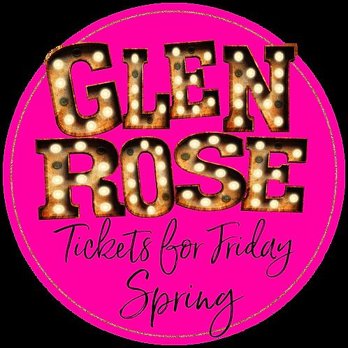 Glen Rose Spring Friday Ticket