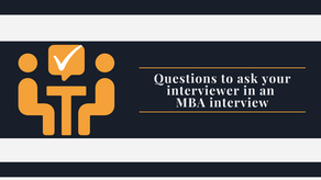 28 Questions to ask your interviewer in an MBA interview