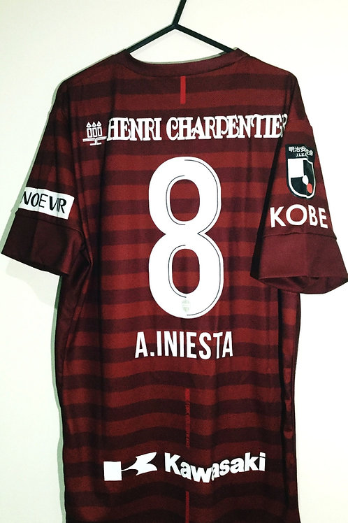 *BNWT* 2019 Vissel Kobe Player Issue Shirt #8 A. Iniesta