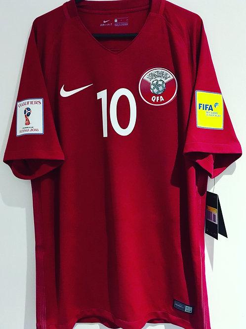 *BNWT* 17/18 Qatar Shirt #10 Al-Haidos الهيدوس