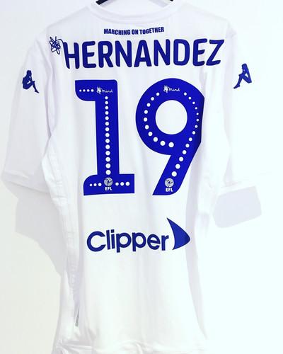 9f97ce787fa  BNWT  18 19 Leeds United Player Issue Shirt  19 Hernandez