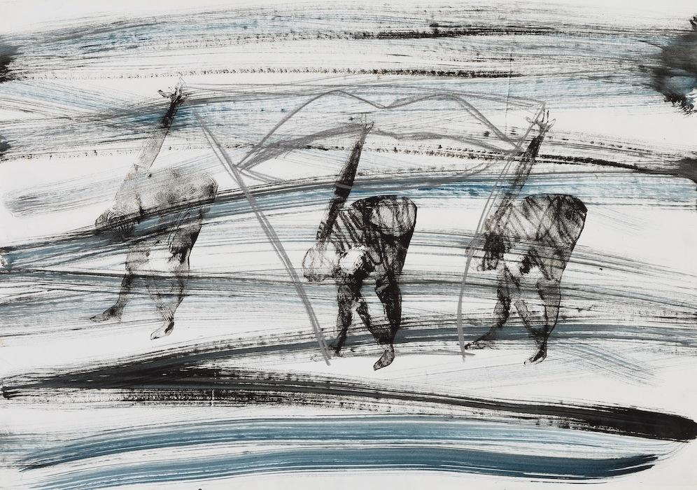 1997, pannello di un trittico, olio e lapis su carta,49 x 69,5  IMG_0214