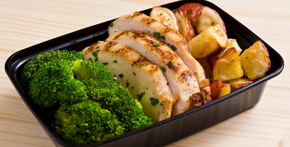 Chicken, Potatoes, Broccoli