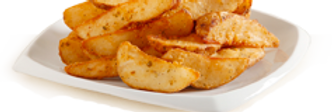 White potato wedges