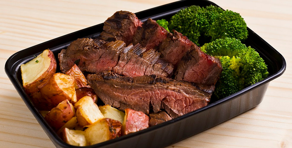 Steak, Potatoes, Broccoli