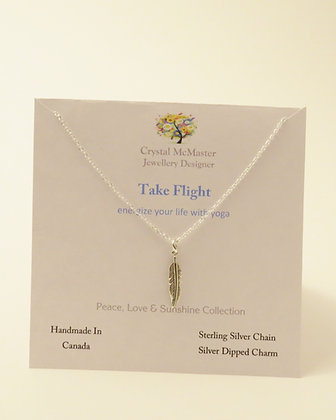 Sterling Silver Necklace with Silver Dipped Charm