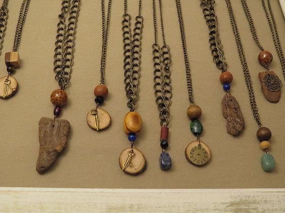 Driftwood & Applewood Signature Pendants