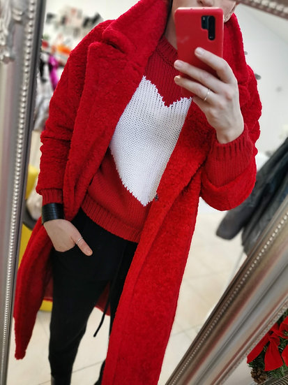 Kabát Teddy červený IMPERIAL