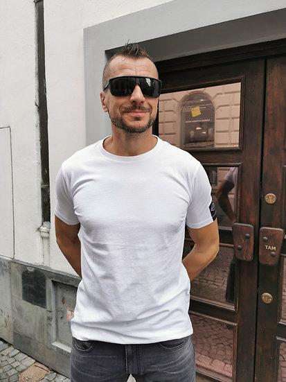 Replay tričko s krátkym rukávom biele