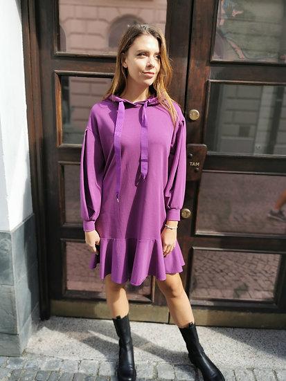 Please šaty fialové