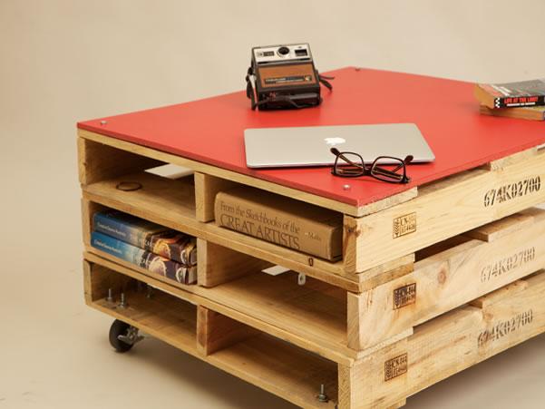 Mobiliário com Pallets