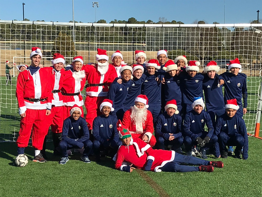 Soccer with Santa