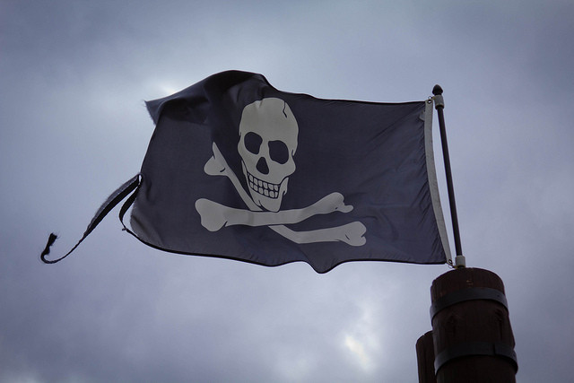 A pirate flag. Credit: Dave Dugdale / Flickr Creative Commons
