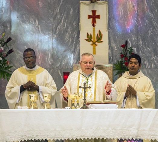 Archbishop Wenski celebrating wth us!