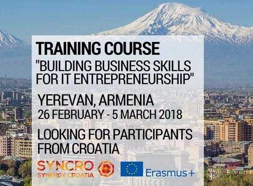 Training Course | Yerevan, Armenia 🇦🇲 | Building Business Skills for IT Entrepreneurship