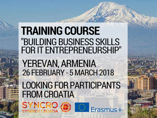 Training Course | Yerevan, Armenia 🇦🇲 | Building Business Skills for IT Entrepreneurship