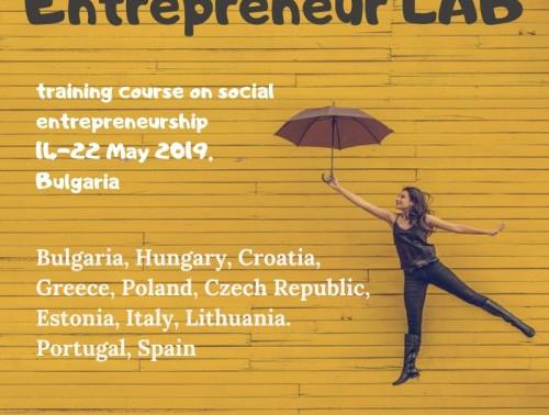 Training course │ Dolni Lozen, Bulgaria│Enreprenuer LAB