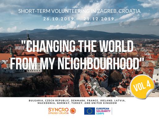 "SHORT-TERM VOLUNTEERING (ESC)│ Zagreb, Croatia │""Changing The World From My Neighbourhood"" Vol.4"