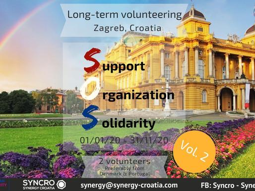 "LONG-TERM VOLUNTEERING (ESC) │ Zagreb, Croatia 🇭🇷 │ ESC ""SOS"""
