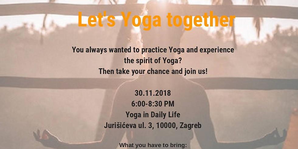 Let's Yoga together