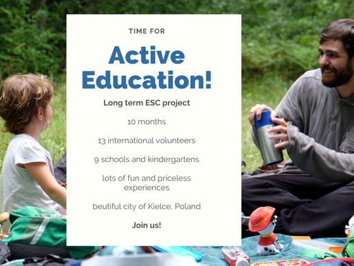 LONG-TERM VOLUNTEERING (ESC)│KIELCE, POLAND 🇵🇱│ACTIVE EDUCATION