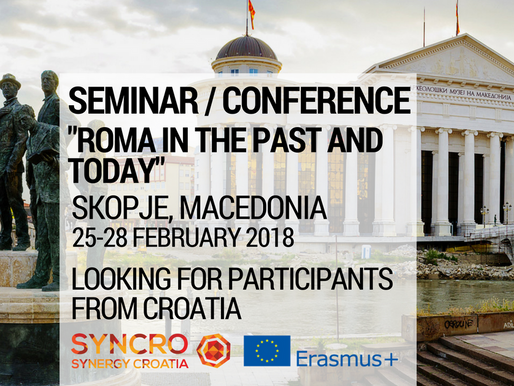 "Conference | Skopje,Macedonia 🇲🇰 | ""Roma in the past and today"""