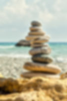 spiritual stone cairn