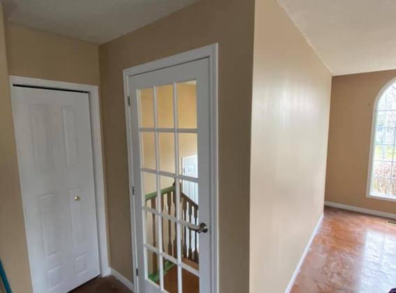 French door & wall build