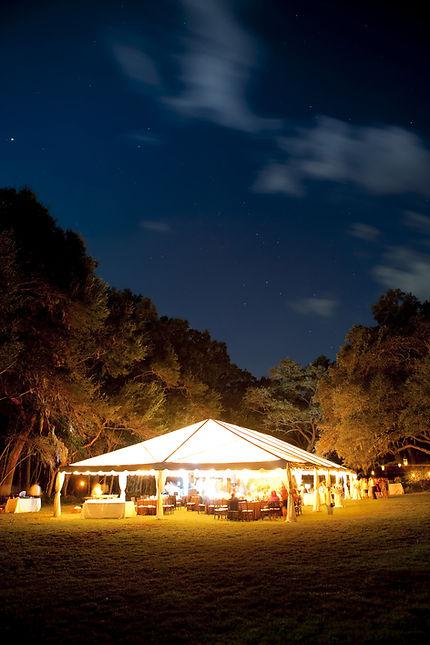 Night Wedding at Ranch