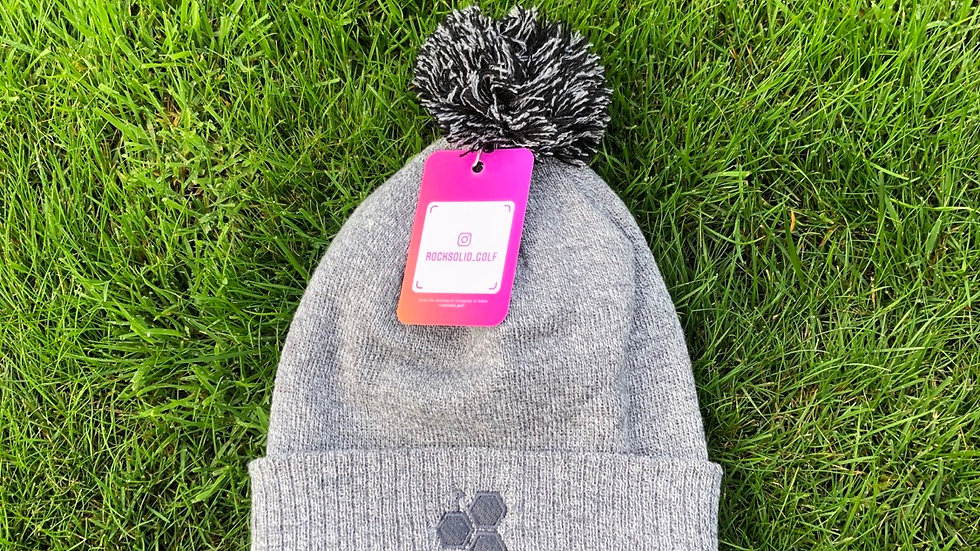 Rocks Bobble Hat - Heather Grey