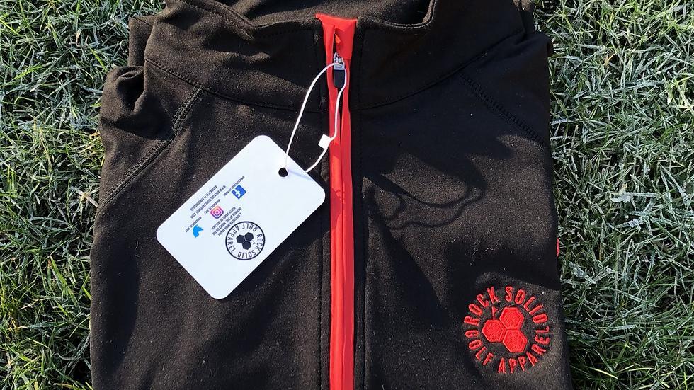 Men's Birdie 1/4 zip - Black / Red