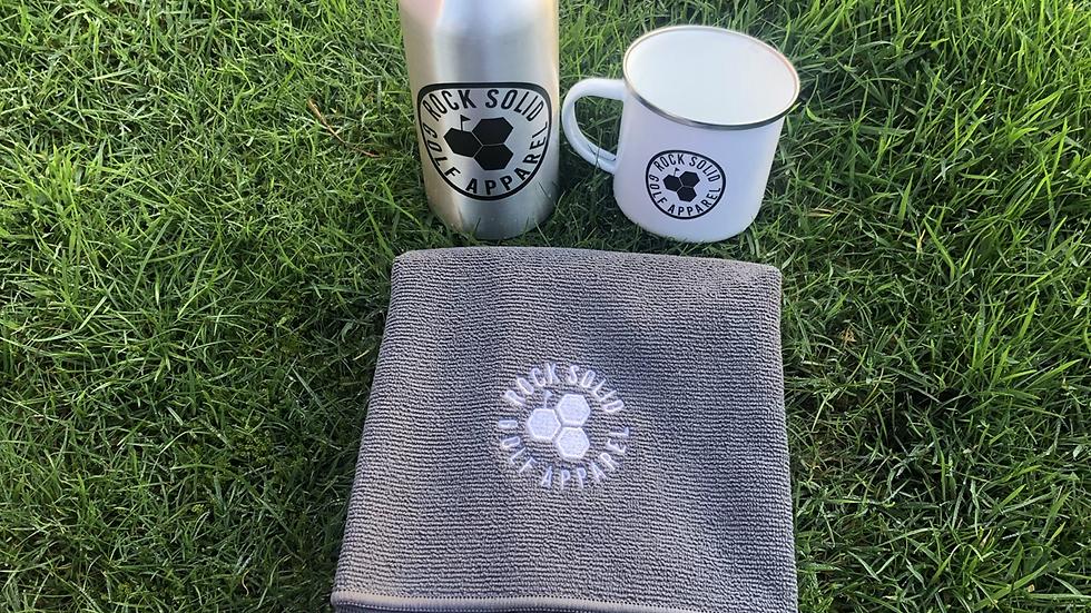 Birdie Mug, Microfibre Towel and  Eco Water Bottle