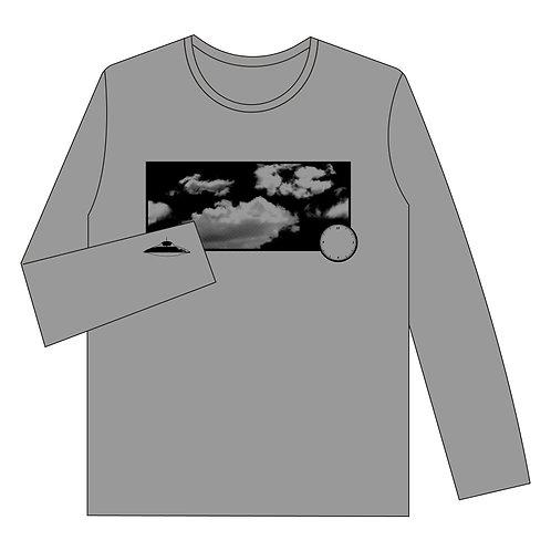 ロングTシャツ「たまにUFO」heather GRAY