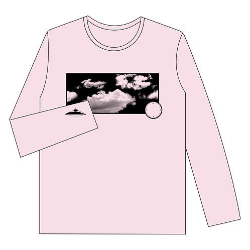 ロングTシャツ「たまにUFO」frost Pink