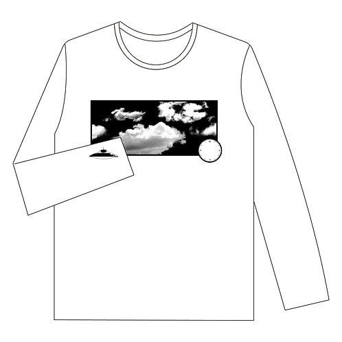ロングTシャツ「たまにUFO」WHITE