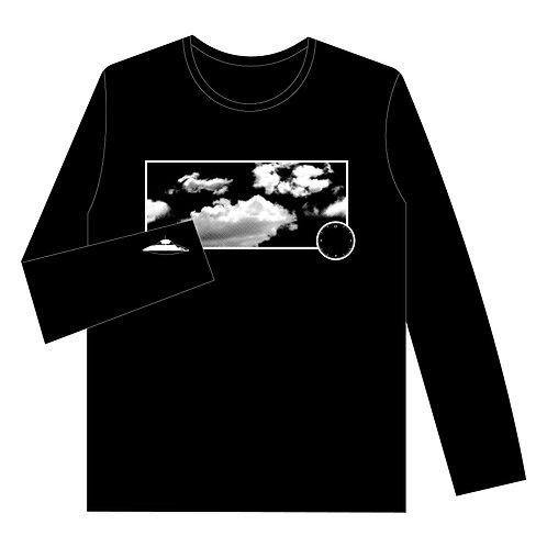 ロングTシャツ「たまにUFO」BLACK