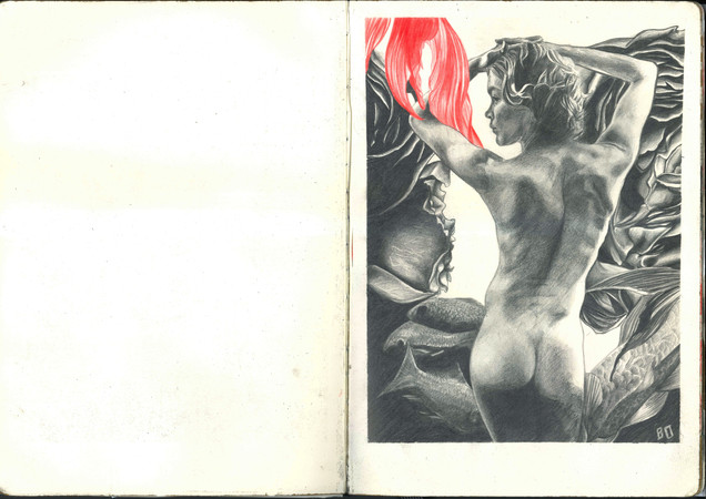 Many different pages of Sketchbooks-3.jp