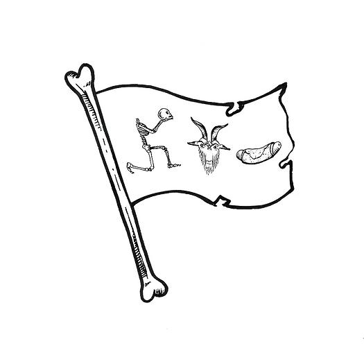 drapeau des fanatiques du Satan Galette-