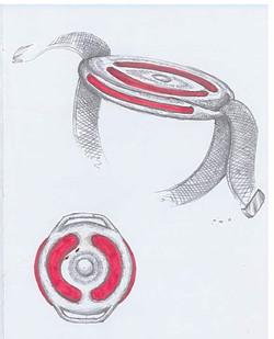 Croquis des bracelets sensoriels