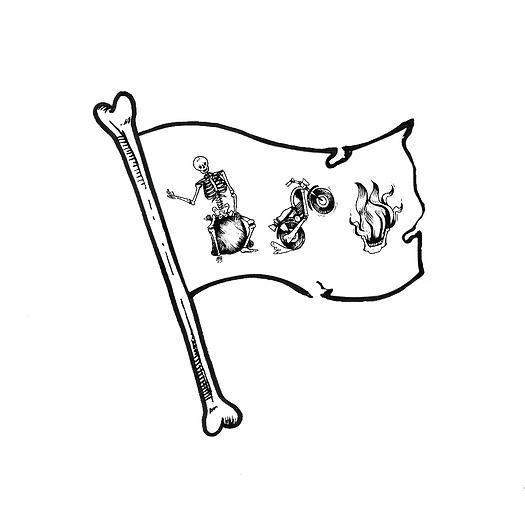 drapeau_des_campeurs_de_la_moto_enflamée